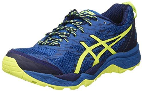 Asics Gel-Fujitrabuco 5, Zapatillas de Deporte para Hombre, Azul (Thunder Blue/Safety Yellow/Indigo Blue), 44.5 EU