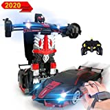 3T6B Robot per Auto RC, Doppio Controllo, Robot di deformazione per Auto telecomandate per Bambini, deformazione sensoriale, Rapporto 1:12 deriva a 360 °, è Il miglior Regalo del Bambino (Rosso)