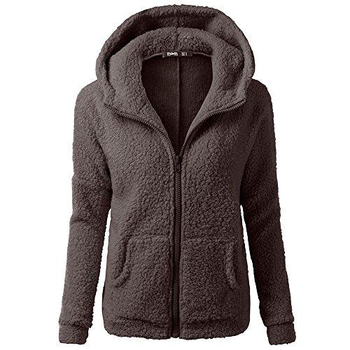 Dorical Wollpullover Damen Herbst Winter Warm Viele Farben übergröße Pullover Hochwertige Mit Kapuze Sweatshirt Mantel Winter Warm Wolle Zip Mantel Baumwolle Outwear