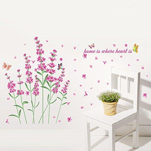 Weaeo Lavendelblüten Dekorative Wand Aufkleber Home Dekorationen Hochzeit Party Girls Schlafzimmer Dekor Valentine Geschenk Wandmalerei Kunst - Girls Generation-karten