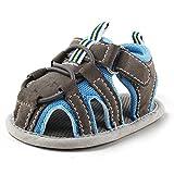 DELEBAO Zapatos Bebé Niño Sandalias Bebe Zapatillas Verano Para Bebes con Suela Antideslizante Suave Para Primeros Pasos Para Los Niños Azul 6-12 Meses