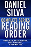DANIEL SILVA COMPLETE SERIES READING ORDER: Gabriel Allon series in order, Michael Osbourne series in order, all omnibus editions, all stand-alone novels, and more! (English Edition)