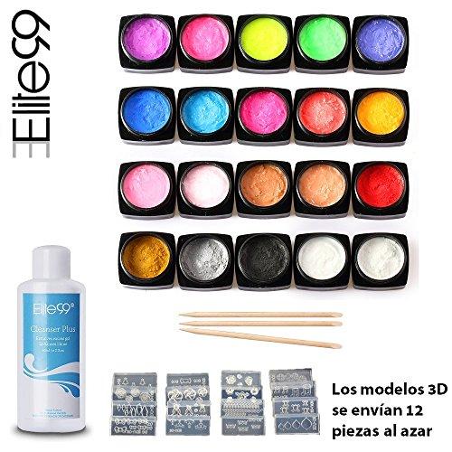 elite99-esmalte-de-unas-gel-tallado-3d-pegamento-uv-led-20pcs-kit-con-limpiador-y-modelos-3d-manicur