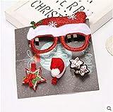 WDDqzf Adornos Sombreros De Navidad Gafas De Hombre Viejo Tiara De Navidad Horquilla Horquilla Niños Adultos Diadema Vestir Accesorios para El Cabello Set De Regalo