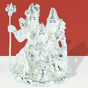 GoGappa Shiva, Parvati, Ganesh Murti - The First Family of Heavens (92.5% Pure Silver)