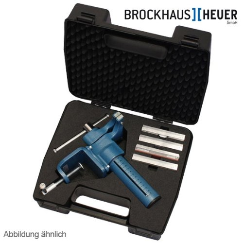 Preisvergleich Produktbild HEUER Compact-Kofferset, inkl. Compact-Schraubstock | mit Schnellverstellung, Tischklammer und 4 versch. Typen Magnetschutzbacken | Backenbreite: 120 mm, Gewicht: 7,95 kg