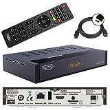 netshop 25 Xoro HRT 8770 Twin Tuner DVB-T/T2 Receiver + 1,5m HDMI Kabel (Full HD, HEVC H.265, HDTV, HDMI, Irdeto Zugangssystem, Freenet TV, Mediaplayer, PVR Ready, USB 2.0