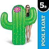 BigMouth Inc - Flotador Hinchable Cactus Gigante - Inflable Colchoneta Piscina Playa