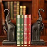#8: TIED RIBBONS Elephant shaped Non Skid Bookends Magazine Books organizer holder for Office Home