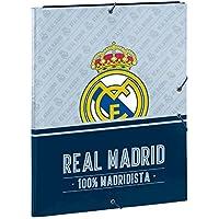 Real Madrid 2018, Carpeta, 34 cm, Gris y Azul Marino