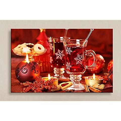 XYXY Albero di Natale decorativo soggiorno LED luci murales fibra disegno festivo paesaggio casa pittura decorazione . a . 40*50