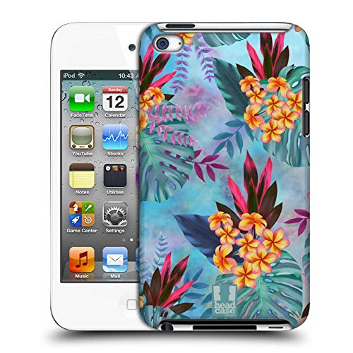 Head Case Designs Plumeria Tropische Marmor Drucke Harte Rueckseiten Huelle kompatibel mit Apple iPod Touch 4G 4th Gen (Ipod 8gb 4. Gen)
