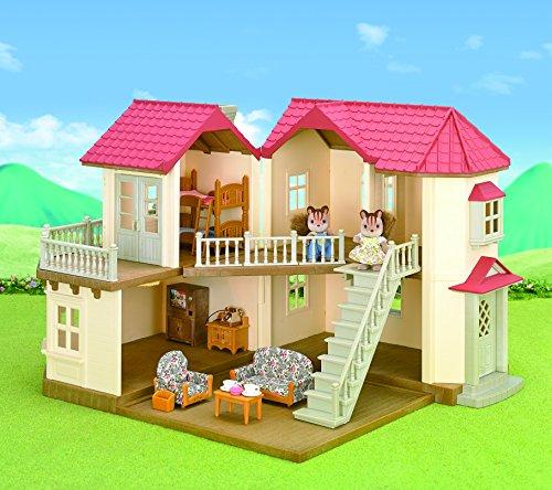 Sylvanian Families   Casa de muñecas con 2 caracteres  mobiliario e iluminación (5171)