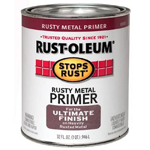 Rust-Oleum 7769502 Protective Enamel Paint Stops Rust, 32-Ounce, Flat Rusty Metal Primer by Rust-Oleum
