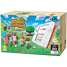 Nintendo 2DS Console, Bianco e Rosso + Animal Crossing: New Leaf [Bundle]
