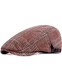 HowYouth Uomo Country Style Mix Tweed Piatto Cappellino Irish Gatsby  Cappello per Cappellino 56-60CM 6cd4b14d5801