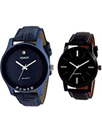 Fonex Mercury Trendy Analog Watch For Men Combo Of 2