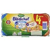 Blédina Blédichef 2 Assiettes Volaille Légumes + 2 Assiettes Colin dès 12 Mois 4 x 260 g