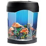 POPETPOP 3 AA/USB Jellyfish Lamp Acquario Simulazione Sfondo Medusa elettrica Serbatoio Aquarium Night Light Decorazione della casa per Soggiorno