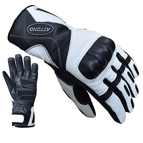 ATTONO Skihandschuhe Leder Ski Racing Handschuhe V01 wasserdicht - Größe XL -