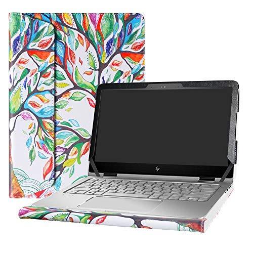 Alapmk Diseñado Especialmente La Funda Protectora de Cuero de PU Para 13.3' HP ENVY X360 13 13-yXXX & HP Spectre 13 x360 13-4XXX Series Ordenador portátil (No compatible con: ENVY X360 13 13-agXXX/Spectre 13 x360 13-aeXXX 13-acXXX 13-wXXX),Love Tree