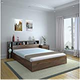 @home by Nilkamal Torrie King Size Engineered Wood Bed with Box Storage (Particle Board - Black)