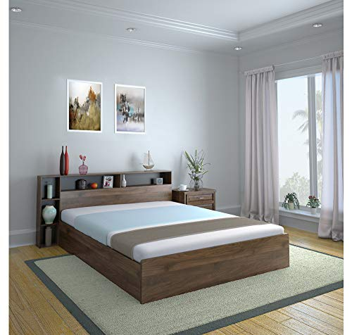 @home by Nilkamal Torrie King Size Engineered Wood Bed with...