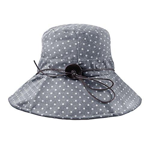 FakeFace Damen Hut Kappe Sonnenhut aus Baumwolle Sonnenschutz Strandhut Verstelltbare Hüte Kappe Anti-UV-BLAU Frauen Xl-sonnenhut