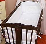 Umrandende Babybettsicherung, ca. 260cm lang, vollständig gepolstert, geeignet für Schaukelbett/Wiege