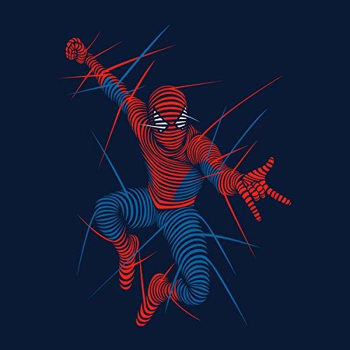 Spider Man Lines Women's Hooded Sweatshirt Navy blue
