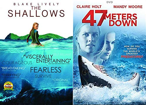 Super Babes Vs Apex Predators DVD Bundle: The Shallows + 47 Meters Down Great White Shark Vs. Super Pretty Girls