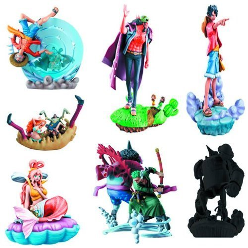 One Piece Episode of Fish-Man Island Logbox Trading Figurines (1 Random Blind Box)
