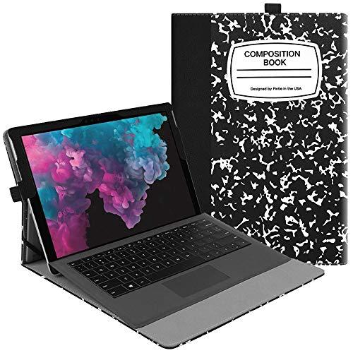 Fintie Hülle für Microsoft Surface Pro 6 (2018) / Pro 5 (2017) / Pro 4 / Pro 3 - Multi-Sichtwinkel Hochwertige Tasche Schutzhülle aus Kunstleder, TypeCover kompatibel, Notizblock
