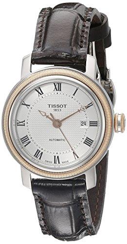 TISSOT - Montre Femme Tissot Bridgeport Automatique T0970072603300 Bracelet En Cuir Marron - T0970072603300