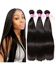 273aff7a5482 ClAROLAIR tissage brésilien en lot cheveux naturel brésilienne mèches  brésiliennes lot bresilienne lisse 3 boucles cheveux