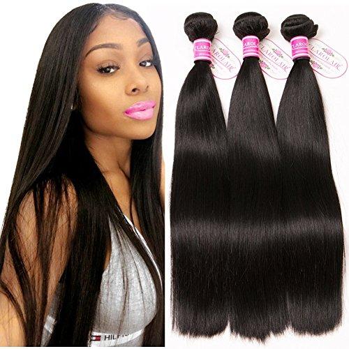 ClAROLAIR Brazilian Straight Hair 3 Bundles Unprocessed Brazilian Virgin  Hair Straight Bundles 8A Straight Human Hair 6a3c5ca986f3