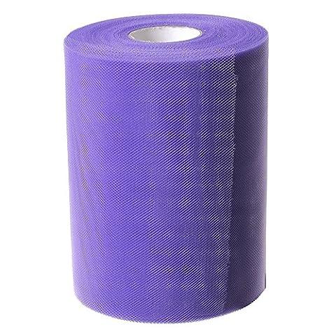 YCNK 6 Inch x 100 Yards (300 FT) Tüll Rollenspule Tutu Stoff Hochzeit Geschenk-Bogen-Fertigkeit (Blue Purple)