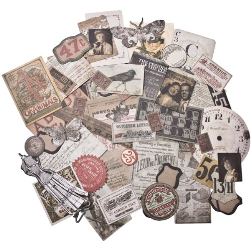 Tim Holtz idea-ology Thrift Shop Ephemera Pack