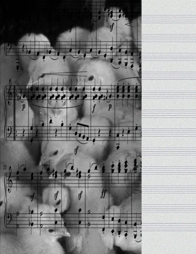 Music Manuscript Paper: Cute Baby Chicks Song Music Journal Notebook For Lyrics, Notes 8.5 X 11 Manuscript Paper 12 Stave Lines For Musicians ... Teachers Book, Piano Violin Cello 100 Sheets - Violin Chick