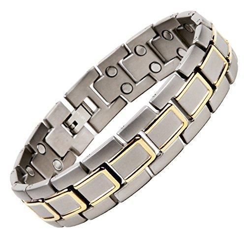 North South Titan T51zweireihig magnetisch Link Armband mit GRATIS Luxus-Geschenk-Box + Demontagewerkzeug