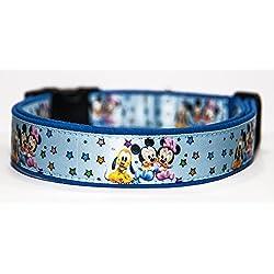 Disney Babies B Collar Perro Hecho a Mano Talla M con Correa a juego de 120 cm Dog Collar HandMade