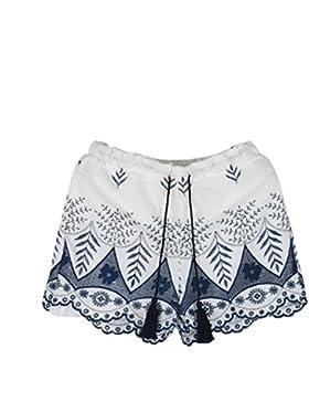 Odejoy Donne Estate Pizzo Ricamo boemo Pantaloni corti casuali Donne Ragazze Moda Estate Pantaloncini Pois Modello...