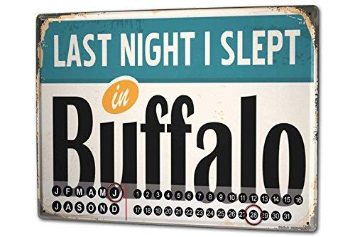 Dauer-Wand-Kalender-Fernweh-Stadt-Buffalo-USA-Metall-Magnet