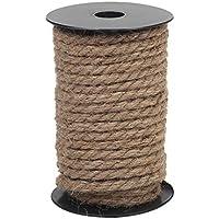 Cuerda de yute de 8 mm, cuerda resistente natural para manualidades, rascador de gatos, color marrón