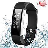 【Offerta a tempo limitato】Fitness Tracker,Orologio Fitness Activity Tracker Cardio Impermeabile IP67 Fitness Watch Cardiofrequenzimetro da Polso Contapassi Braccialetto Pedometro 14 Modalità Sport Contatore di Calorie Monitor del Sonno per Uomo Donna Notifiche Messaggio per Android Smartphone iOS iPhone-Nero