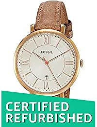 (Renewed) Fossil Jacqueline Analog Yellow Dial Womens Watch - ES3487#CR