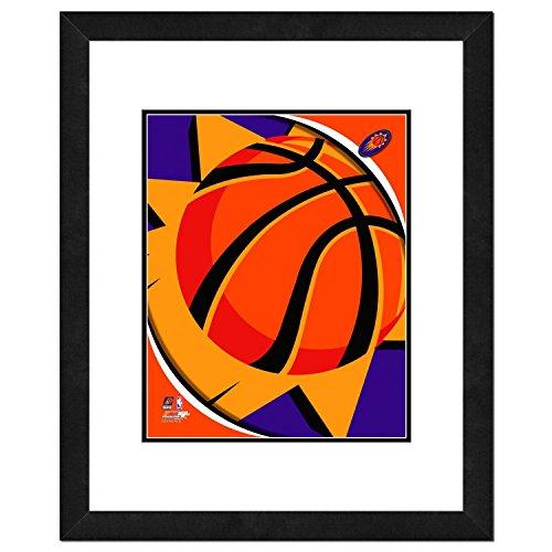 "Photo File NBA Phoenix Suns Team Logo Double Matted & Framed Photo, 22.5"" x 26.5"", Multicolor"