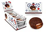 Daelmans Chocolate Stroopwafels | Caramel Chocolate Stroopwaffle | Chocolate Wafers - 78 g x 18 in a Box - Warm it up on Your Cup - Great for Those on The go Moments