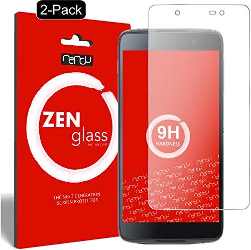 nandu I ZenGlass [2 Stück] Flexible Glas-Folie für BlackBerry DTEK50 Panzerfolie I Bildschirm-Schutzfolie 9H