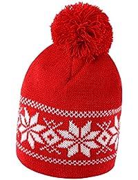 Cappellino da Sci con PON PON Cappello Invernale in Maglia Berretto Caldo  da Montagna e0a767ed254e